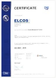 DQS ISO 9001-2015 certificate